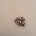Drahtring Silberwürfel und Perlen