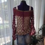 Häkelnetzsweater