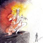 Tusche Aquarell Illustration von Ulli Modro
