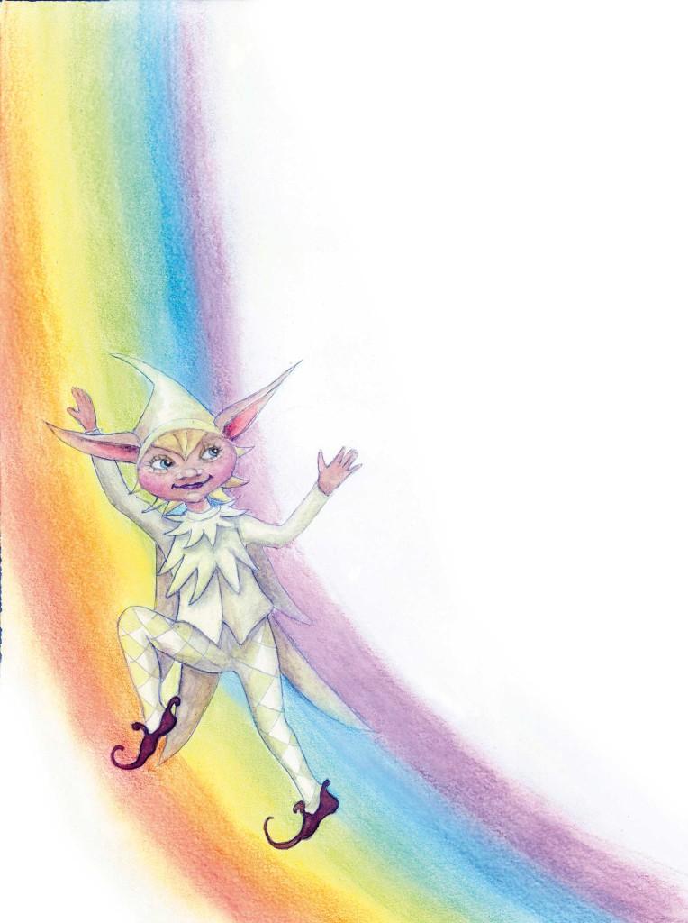 Weißer Elf am Regenbogen aus Der Weiβe Elf - Illustration Ulli Modro